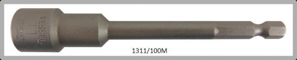 """10 Stück  Vessel magnetische HEX Steckschlüssel POWER BIT 1/4"""" HEX E6.3  A/F 11.0 X Ø17.0 X 100 (mm)"""