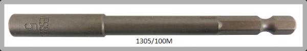 """10 Stück  Vessel magnetische HEX Steckschlüssel POWER BIT 1/4"""" HEX E6.3  A/F 5.0 X Ø8.5 X 100 (mm)"""