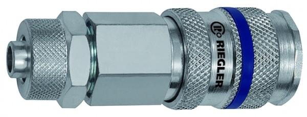 Schnellverschlusskupplung NW 7,8, Stahl, Schlauchanschluss 8x6 - 12x9