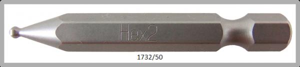 """10 Stück Vessel Industriebit Hexagonal-Schrauben POWER BIT 1/4"""" HEX E6.3  BP HEX 2.0 X Ø3.0 X 50(mm)"""