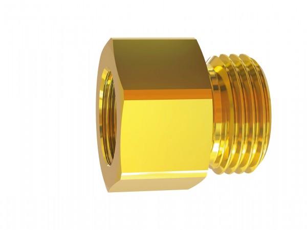 Reducing nipple long, G 1/8 - 1/2 o., G 1/8 - 3/4 i., AF 14 - 32, Brass