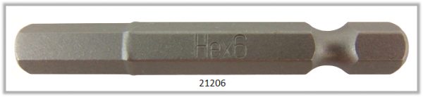 """10 Stück Vessel Industriebit Hexagonal-Schrauben POWER BIT 1/4"""" HEX E6.3 HEX 6.0 X 49 (mm)"""