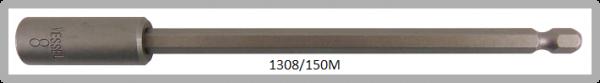 """10 Stück  Vessel magnetische HEX Steckschlüssel POWER BIT 1/4"""" HEX E6.3  A/F 8.0 X Ø13.0 X 150 (mm)"""