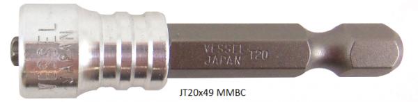 """Vessel Industriebit für Torx-Schrauben POWER BIT - MAGNETIC RING 1/4"""" HEX E6.3 TX 20 X 49 (mm)"""