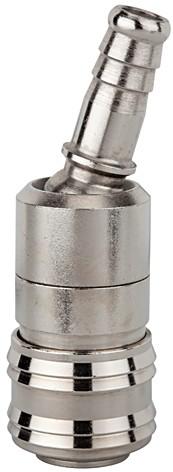 Schnellverschlusskupplung NW 7,2, MS vern., Tülle 6 - 13 mm drehbar