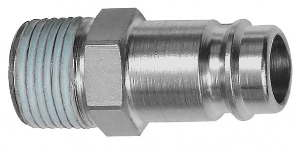 Nippel, NW 10, Stahl gehärtet/vern., R 3/8 - 3/4 AG PTFE beschichtet