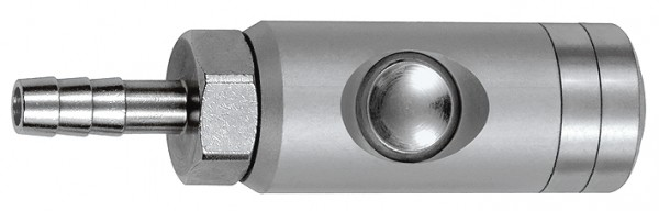 Pushbutton safety coupling I.D.5.5, rotating, Alu, Sleeve I.D. 6 - 13