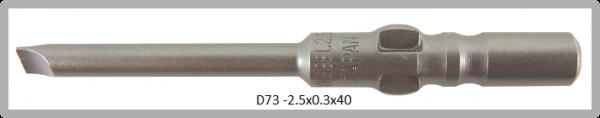 Vessel Industriebit für Schlitz-Schrauben WING SHANK BIT Ø4mm 0.3xØ2.5 X 20 X 40 (mm)