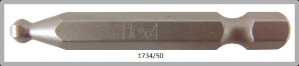 """10 Stück Vessel Industriebit Hexagonal-Schrauben POWER BIT 1/4"""" HEX E6.3  BP HEX 4.0 X Ø5.5 X 50(mm)"""