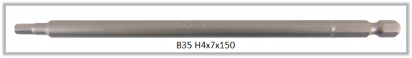"""10 Stück Vessel Industriebit Hexagonal-Schrauben POWER BIT 1/4"""" HEX E6.3  HEX 4.0 X Ø7.0 X 150 (mm)"""