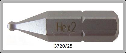 """10 Stück Vessel Industriebit Hexagonal-Schrauben INSERT BIT 1/4"""" HEX E6.3 BP HEX 2.0 X 25 (mm)"""