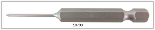 """Vessel Industriebit für Phillips-Schrauben POWER BIT 1/4"""" HEX E6.3 PH 00 X Ø1.58 X 70 (mm)"""