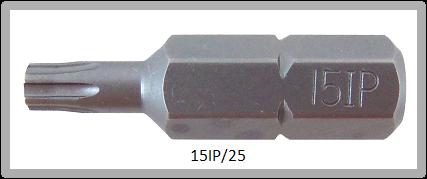"""Vessel Industriebit für Torx-Plus-Schrauben INSERT BIT 1/4"""" HEX E6.3 15IP X 25 (mm)"""