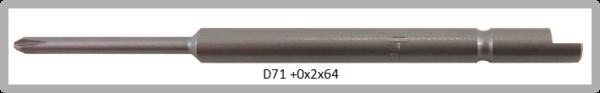 Vessel Industriebit für Phillips-Schrauben HALF MOON BIT Ø4mm PH 0 X Ø2.0 X 20 X 64 (mm)