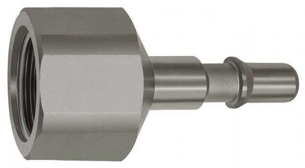 Nipple f. couplings I.D. 6, ISO 6150 C, Stainless steel, G 1/8 - 1/2, IT/ET