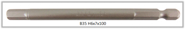 """10 Stück Vessel Industriebit Hexagonal-Schrauben POWER BIT 1/4"""" HEX E6.3  HEX 6.0 X Ø7.0 X 100 (mm)"""