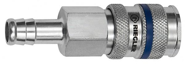 Schnellverschlusskupplung NW 7,8, Stahl, Tülle LW 6 - 13