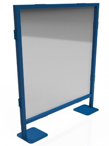 Free-standing partition wall for workstations 1200 x 1400 mm