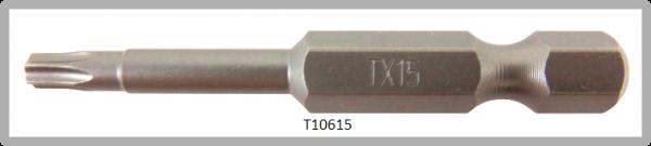 """Vessel Industriebit für Torx-Schrauben POWER BIT 1/4"""" HEX E6.3 TX 15 X Ø3.96 X 49 (mm)"""