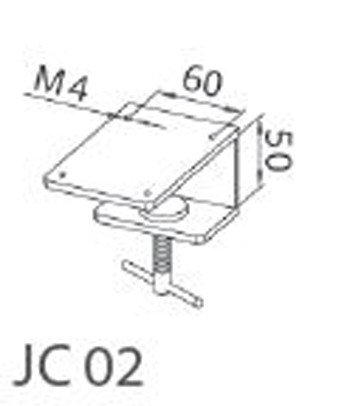 JC02 Table clamp for LED machine lamps; hole spacing in lamp base 60 mm