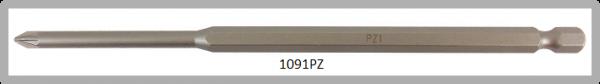 """Vessel Industriebit für Pozidriv-Schrauben POWER BIT 1/4"""" HEX E6.3  PZ 1 X Ø4.76 X 152 (mm)"""