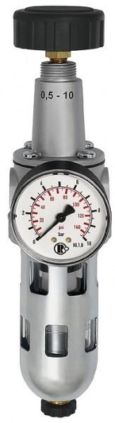 Filterregler »Standard«, PC-Behälter und Schutzkorb, BG 1, G 1/4 - 3/8
