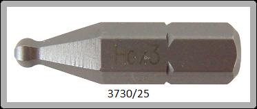"""10 Stück Vessel Industriebit Hexagonal-Schrauben INSERT BIT 1/4"""" HEX E6.3 BP HEX 3.0 X 25 (mm)"""