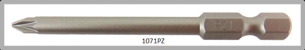 """Vessel Industriebit für Pozidriv-Schrauben POWER BIT 1/4"""" HEX E6.3  PZ 1 X Ø4.76 X 70 (mm)"""
