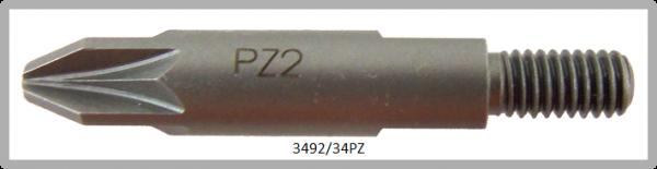 Vessel Industriebit für Pozidriv-Schrauben THREAD DRIVE M4 TYPE PZ 2 X 34 (mm)
