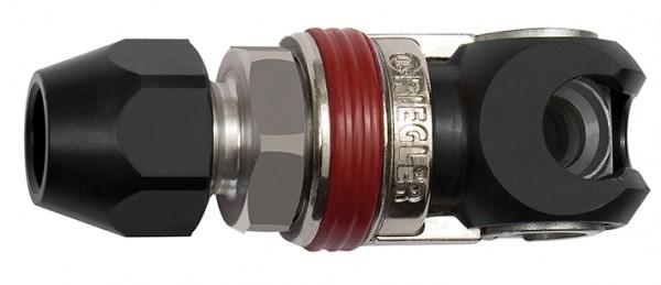 Schwenk-Sicherheitskupplung NW 6, ISO 6150 C, Stahl, Schl. 6,5x10 - 8x12