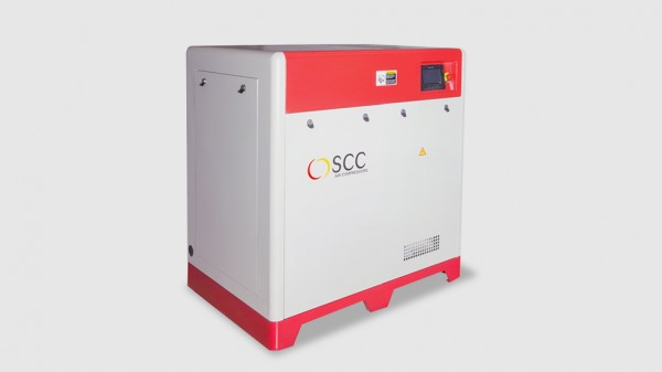 Screw compressor with direct drive, speed control and permanent magnet motor (Strong)