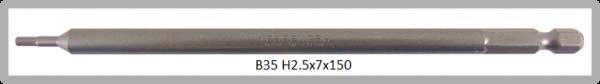 """10 Stück Vessel Industriebit Hexagonal-Schrauben POWER BIT 1/4"""" HEX E6.3  HEX 2.5 X Ø7.0 X 150 (mm)"""