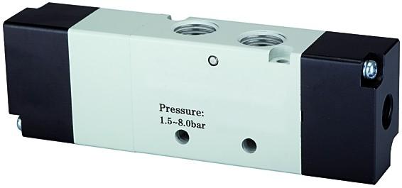 5/3-way valve, Pneumatic, »4A«, Centre vented, M5 - G 1/8 - 1/2