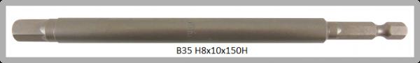 """10 Stück Vessel Industriebit Hexagonal-Schrauben POWER BIT 1/4"""" HEX E6.3  HEX 8.0 X Ø10.0 X 150 (mm)"""