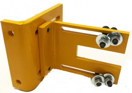Adjustment angle for adjusting & fixing protective shields for drilling machines
