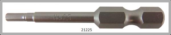 """10 Stück Vessel Industriebit Hexagonal-Schrauben POWER BIT 1/4"""" HEX E6.3  HEX 2.5 X Ø3.5 X 49 (mm)"""
