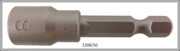 """10 Stück  Vessel HEX Steckschlüssel POWER BIT 1/4"""" HEX E6.3  A/F 8.0 X Ø13.0 X 50 (mm)"""