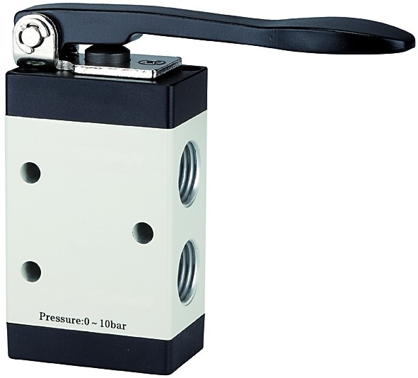 3/2-way valve, Manually actuated, »M3«, Long lever, NC, G 1/8 - 1/4