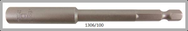 """10 Stück  Vessel HEX Steckschlüssel POWER BIT 1/4"""" HEX E6.3  A/F 6.0 X Ø10.0 X 100 (mm)"""