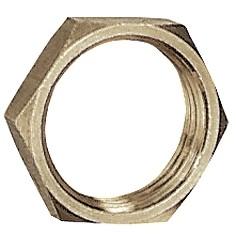 Hexagonal counter nut, G 1/4 - 1/2, AF 17 - 24, nickel-plated brass