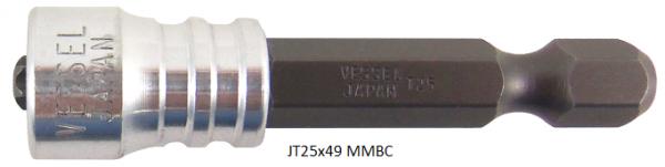"""Vessel Industriebit für Torx-Schrauben POWER BIT - MAGNETIC RING 1/4"""" HEX E6.3 TX 25 X 49 (mm)"""