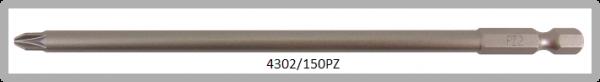 """Vessel Industriebit für Pozidriv-Schrauben POWER BIT 1/4"""" HEX E6.3  PZ 2 X Ø6.0 X 150 (mm)"""