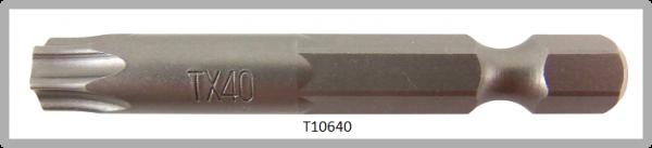 """Vessel Industriebit für Torx-Schrauben POWER BIT 1/4"""" HEX E6.3 TX 40 X Ø7.0 X 49 (mm)"""