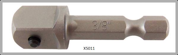 """Vessel POWER BIT 1/4"""" HEX E6.3 ADAPTER SQ 3/8"""" X 41 (mm)"""