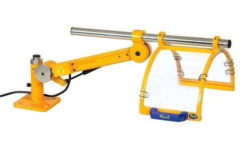 Drehmaschinen-Schutz PT vertikal klappbar mit Gasfeder