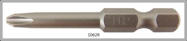 """Vessel Industriebit für Phillips-Schrauben POWER BIT 1/4"""" HEX E6.3  PH 2 X Ø4.76 X 49 (mm)"""