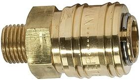 Schnellverschlusskuppl. NW 7,2 »connect line«, MS blank, G 1/4 - 1/2 AG - IG