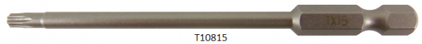 """Vessel Industriebit für Torx-Schrauben POWER BIT 1/4"""" HEX E6.3  TX 15 X Ø3.96 X 90 (mm)"""