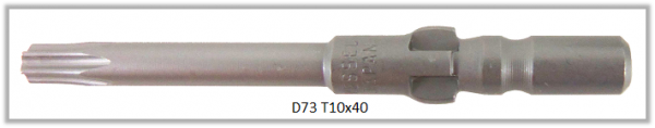 Vessel Industriebit für Torx-Schrauben WING SHANK BIT Ø4mm  TX 10 X Ø3.0 X 20 X 40 (mm)