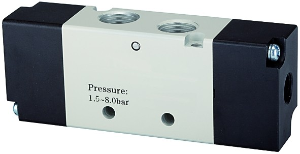 5/2-way valve, Pneumatic, »4A«, bistable, M5 - G 1/8 - 1/2